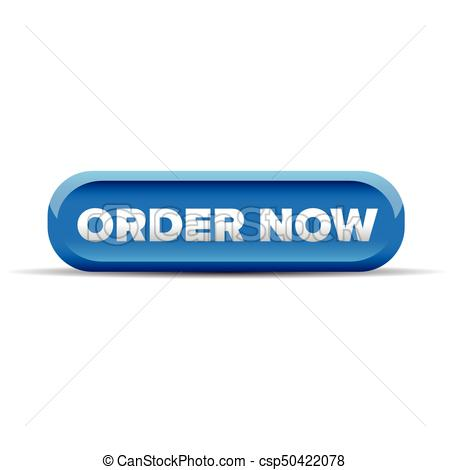Order Now Button Blue Vector - Order Now Button Clipart