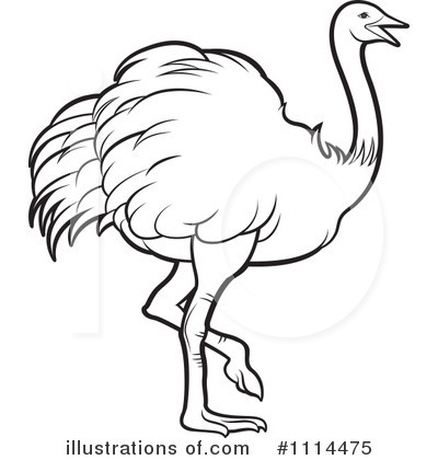 Ostrich Black And White Clipart Royalty Free Rf Ostrich