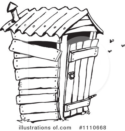 ... outhouse; royalty free rf bathroom clipart ilration by dennis holmes designs stock sample ...