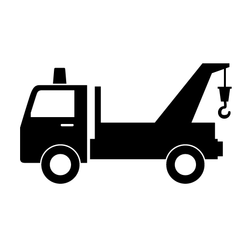 Outline Tow Truck Clipart