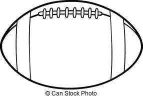 Outlined American Football . - Football Clipart