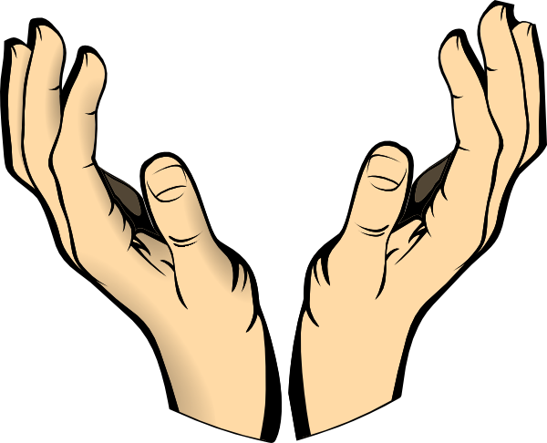 outstretched hand clipart