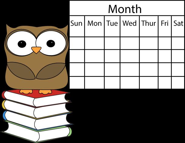 Owl And Calendar Clip Art Owl ..