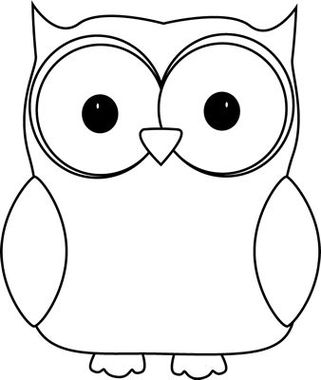 Owl Black And White Clipart - .