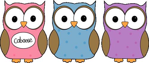 Owl Classroom Line Caboose Clip Art - Owl Classroom Line Caboose