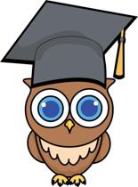 Owl With Graduation Cap 2016. Size: 137 Kb