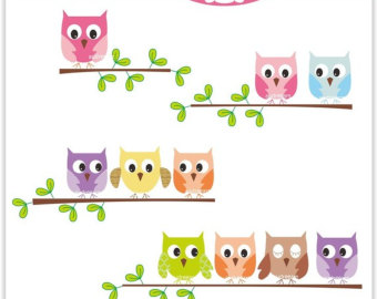 owls clip art digital on the .