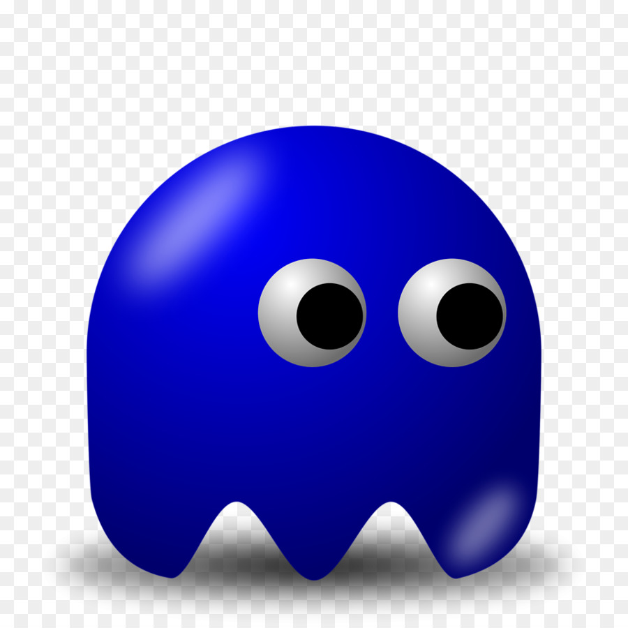 Pac-Man Ghosts Blue Clip art - Blue Ghost Cliparts