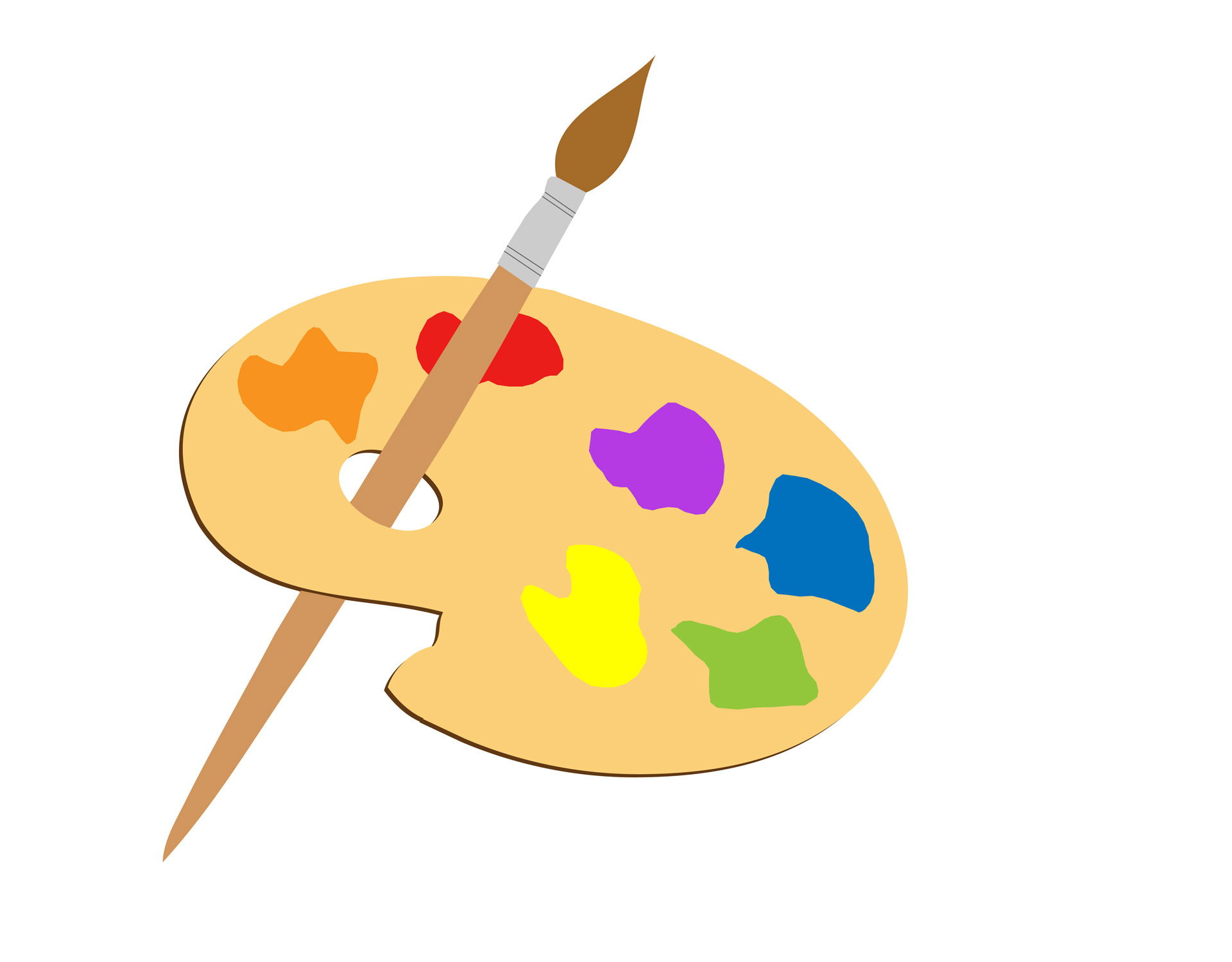 Paint And Paint Brush Artist, Painter And Brush Artists Palette Clipart ...