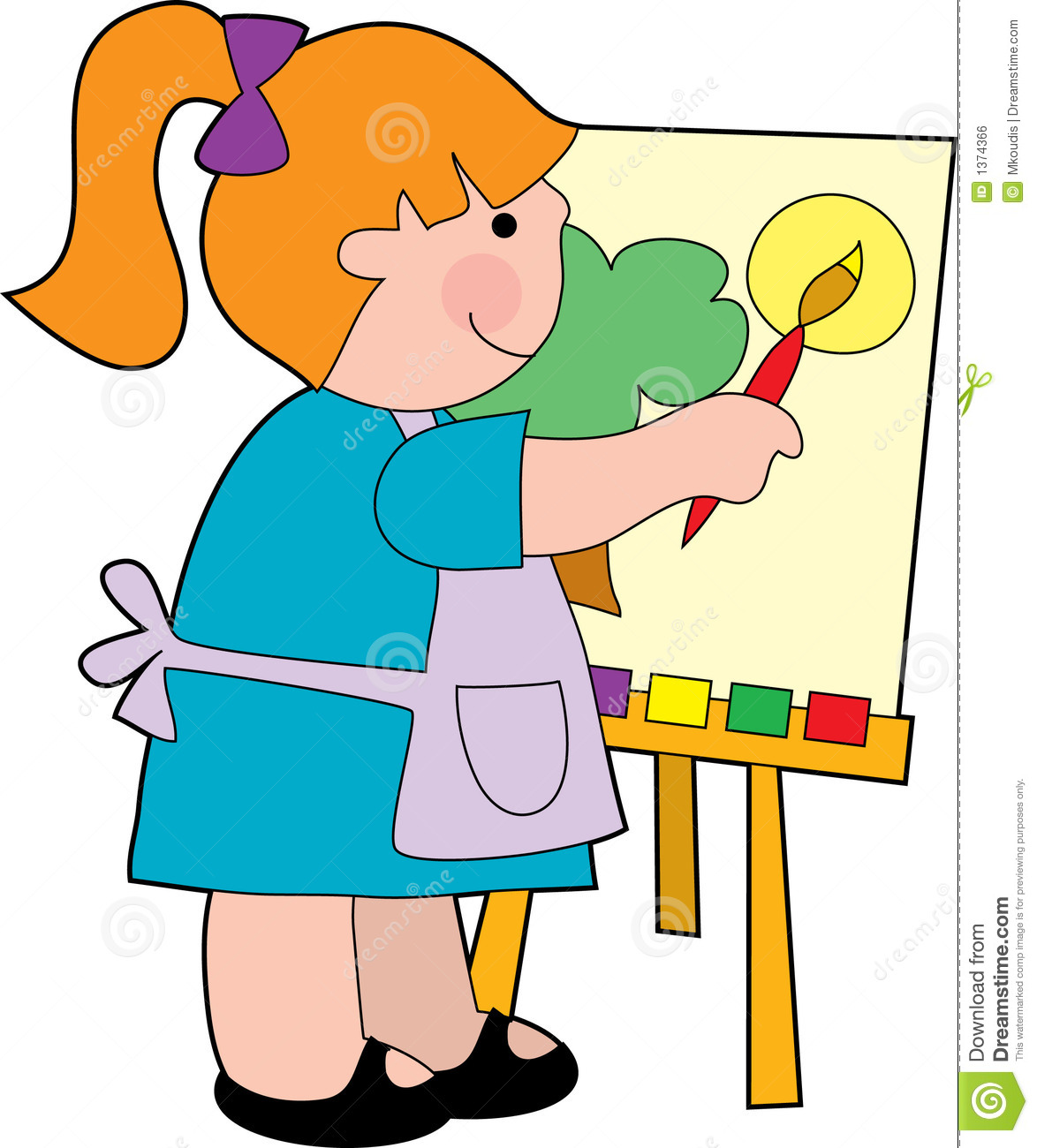 Paint clipart for kids