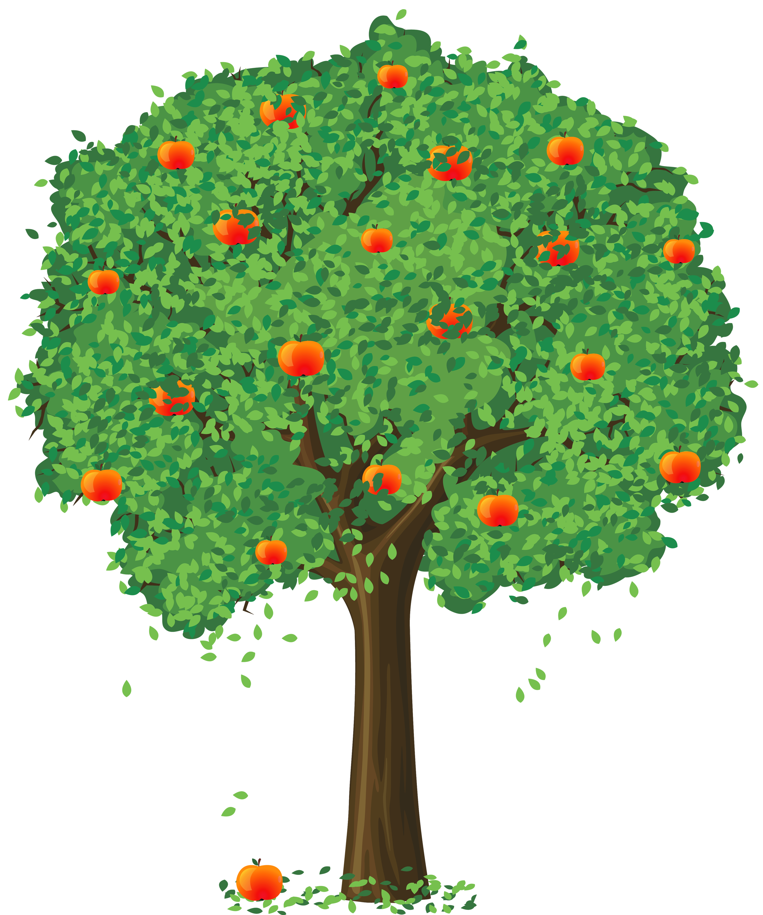 Painted Apple Tree Png Clipart