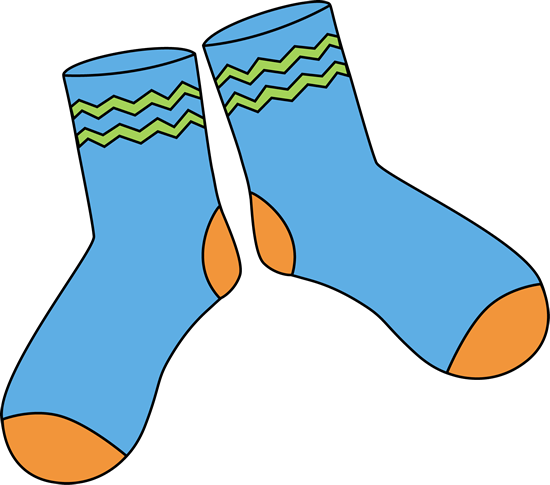 Pair of Blue Socks