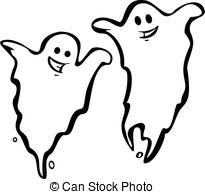 ... Pair of Ghosts - A Pair of fun Halloween Night Ghosts.