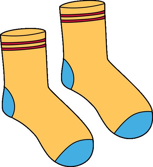 Pair Yellow Socks Clip Art