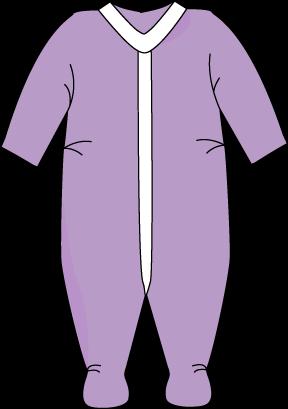 Purple Pajama Clipart #1