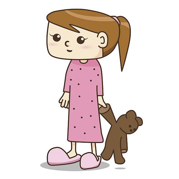Woman clipart pajamas #5