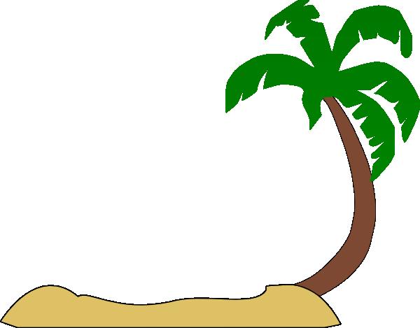 palm tree beach clipart