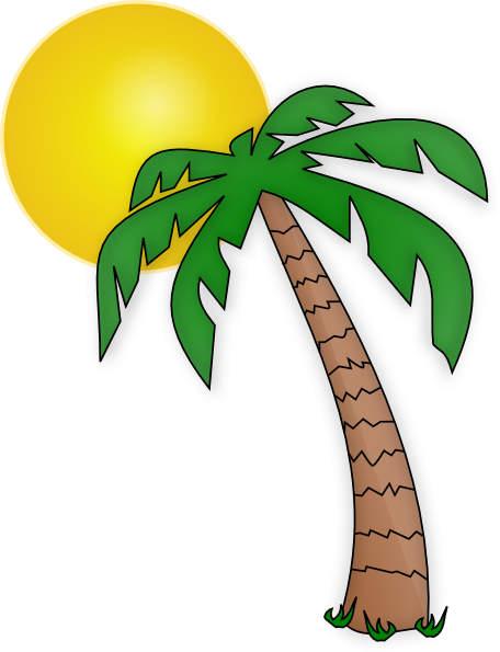 Palm tree art tropical palm trees clip 5 clipart