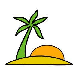 ... Palm Tree Beach Clip Art ...