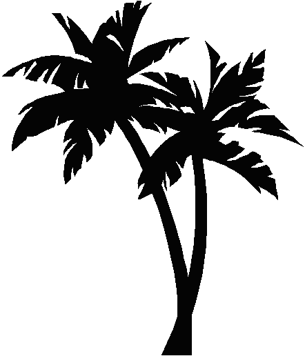Palm tree clip art 2 image