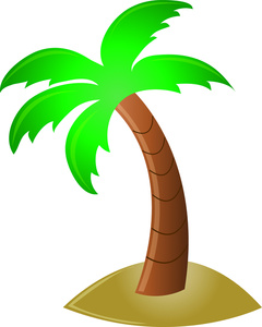 Palm tree clip art silhouette free clipart images