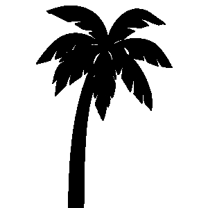 Palm tree clipart black and white clipartall 2
