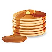 Pancakes And Sausage Clip Art Vector Pancakes With Maple