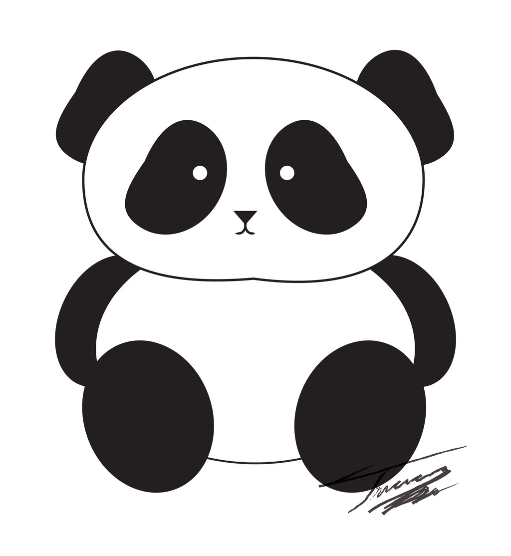 Panda clip art by .