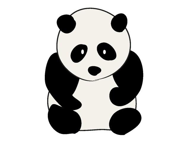 Panda free graphics clipart childrens book