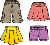 Icon set · pants and skirts color