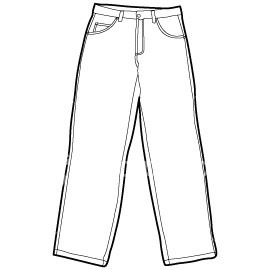 Pants Template - Pant Clipart
