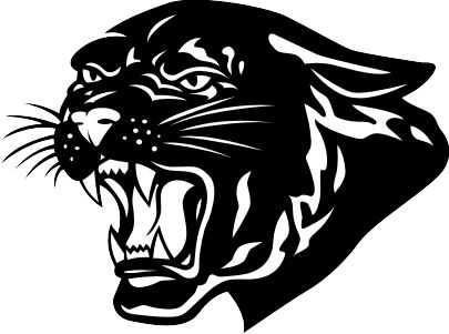 Black Panther clipart black and white #6