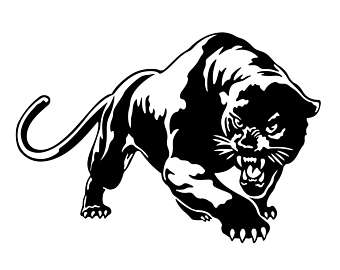 Black Panther clipart stencil #4