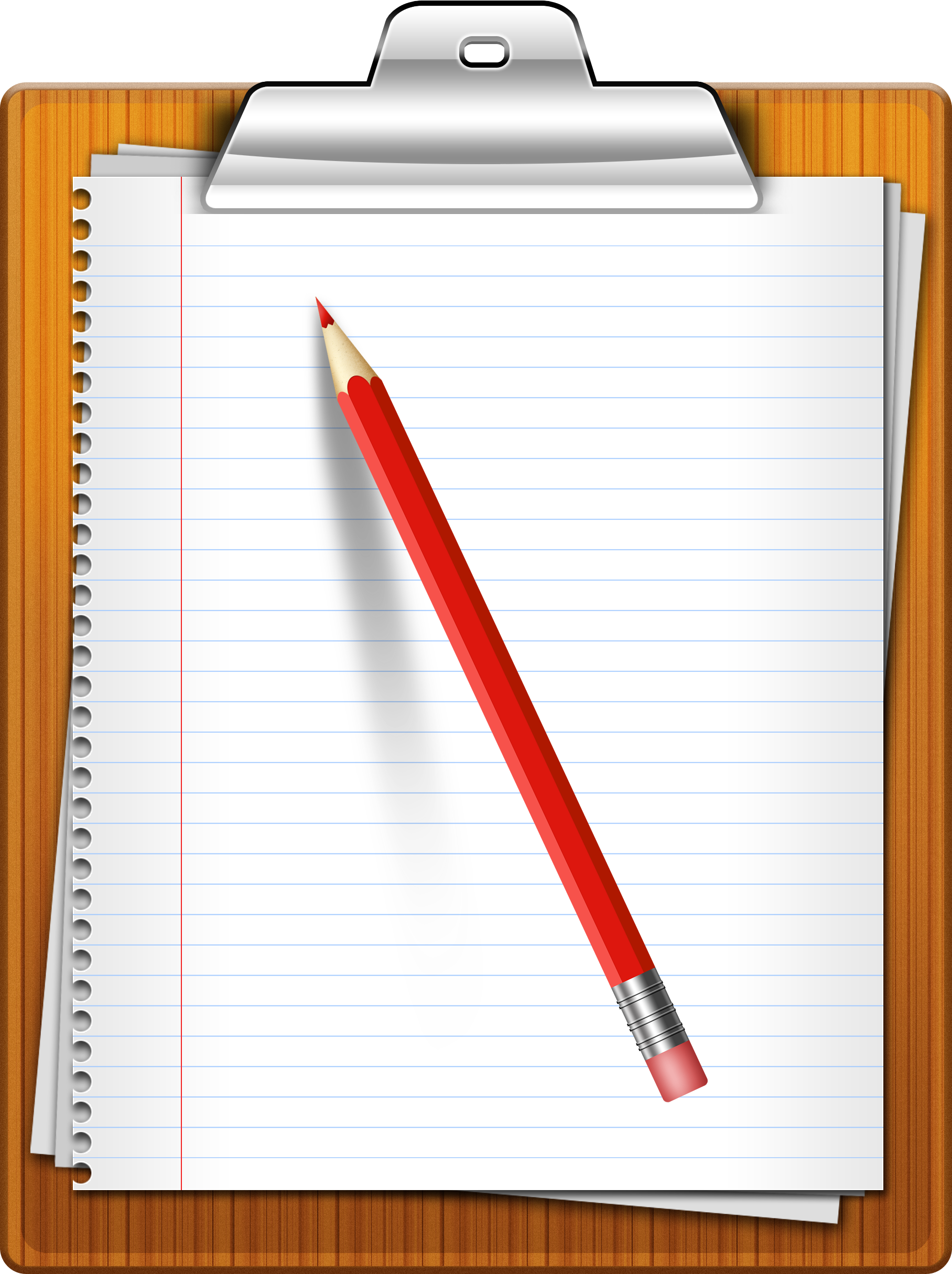 Paper and Pencil Clipart