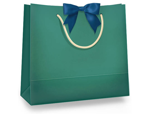 Paper Shopping Bag With Thread Handle Free Vector Sale Shopping