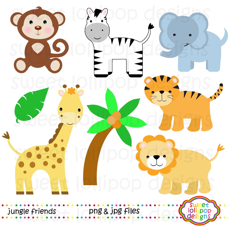 5 Safari Animal Clipart Preview Paper Size Zoo Bo Hdclipartall