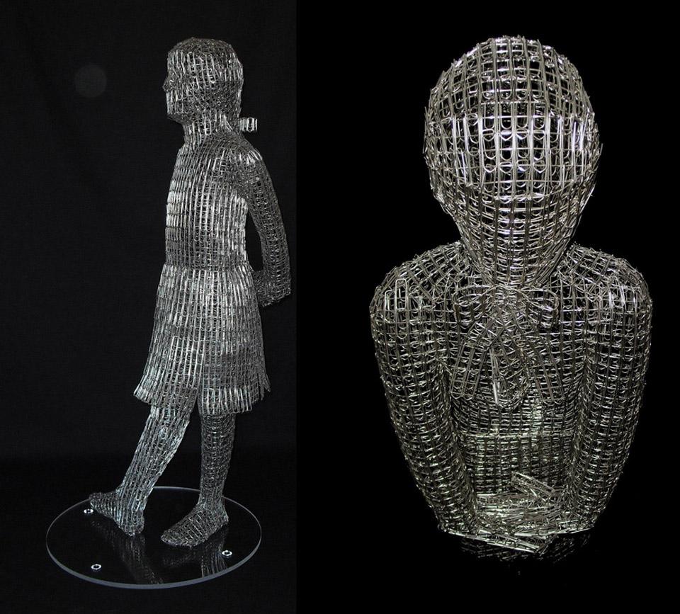Paperclip Sculptures pop out