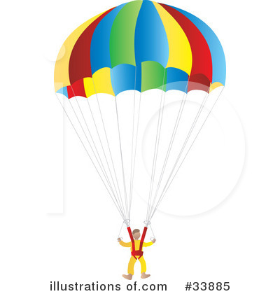 Parachute Clipart 33885 Illustration By Rasmussen Images