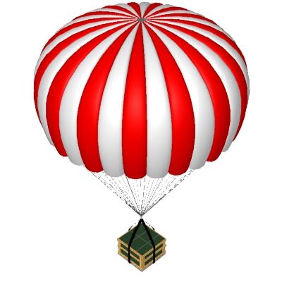 parachute clipart graphics