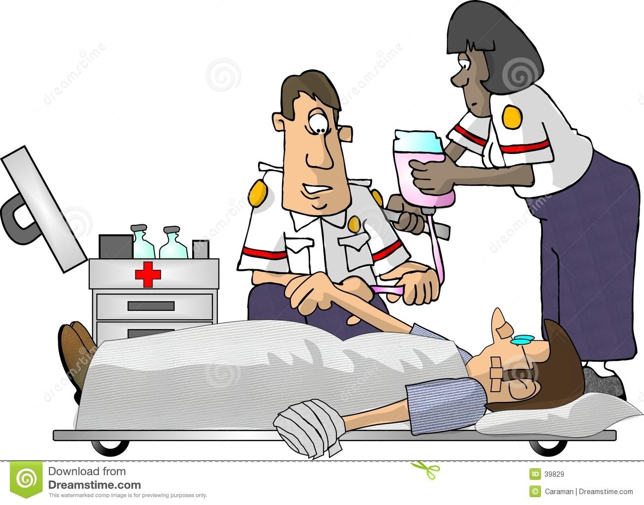 Paramedic Cartoon emt .
