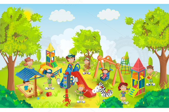 Children playing in the park clipart hdclipartall 2