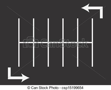 Parking Lot Arrows - Parking lot top view with arrows