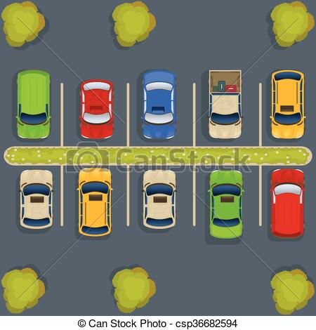 ... parking lot top view - vector illustration of a parking lot... ...