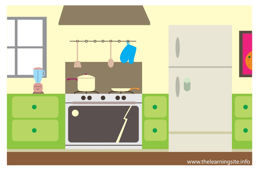 Parts of the house kitchen clipart