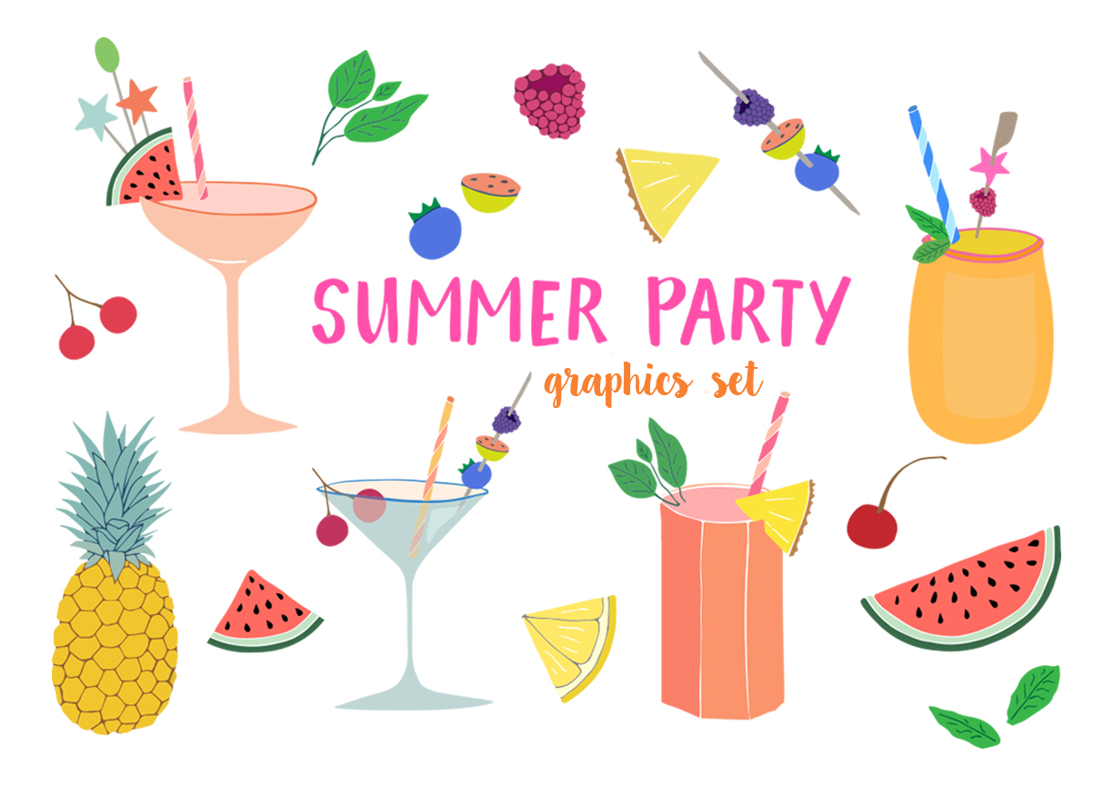 Summer Party Clipart