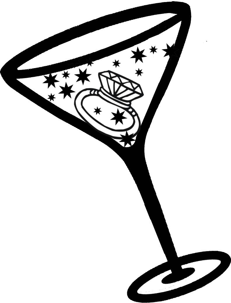 Party Wedding Koozies Diamond Ring Martini Custom Koozies