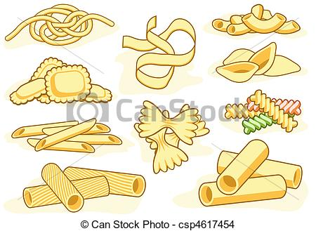 ... Pasta shape icons - Set of editable vector icons of.