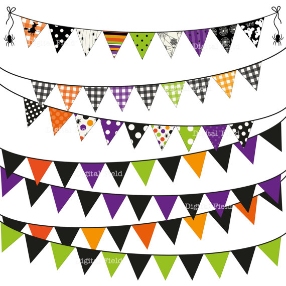 pastel bunting clipart