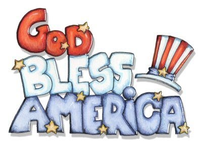Patriotic a independence day free clip art happy july 4th text banner