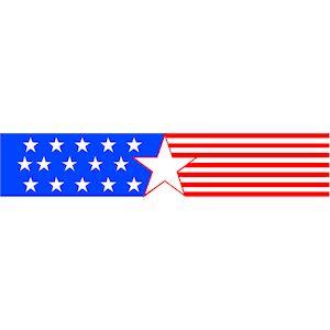 Patriotic Banner 8 clipart, cliparts of Patriotic Banner 8 free